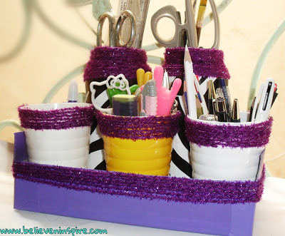 Dollar Store Desk Organizers Easy Craft Project