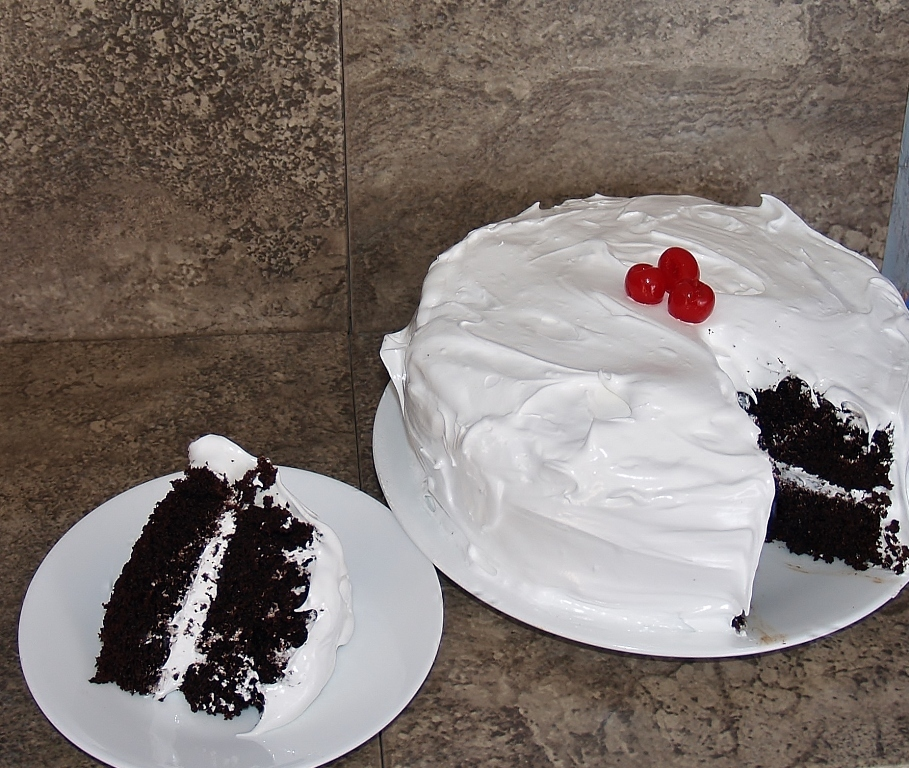 Aunt Pat S Devil S Food Cake With 7 Minute Frosting