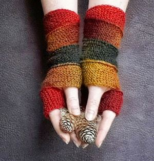 Cozy Autumn Fingerless Gloves