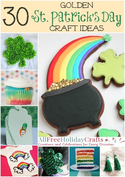 Golden St. Patrick's Day Craft Ideas