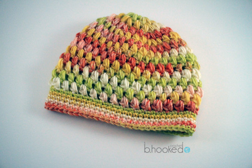 Citrus Puff Stitch Hat