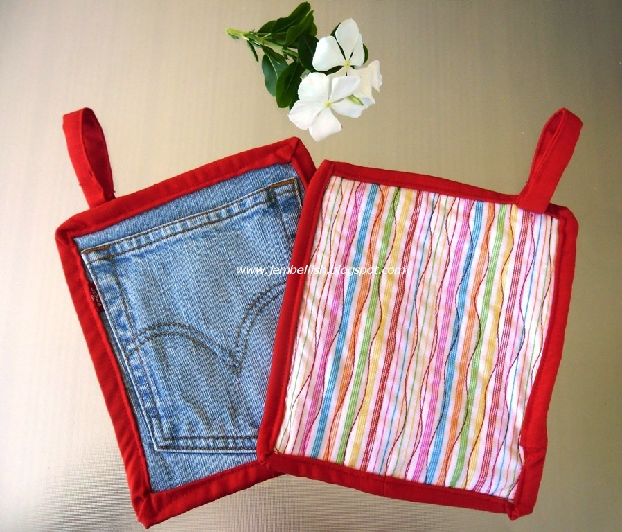 Jean Pocket Pot Holder Allfreesewing Com