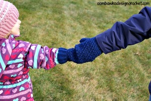 Mommy And Me Crochet Mitten Pattern