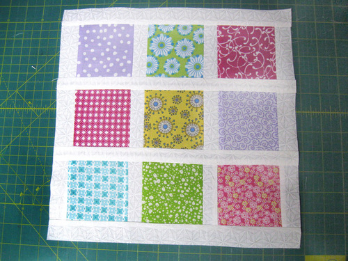 Brady Bunch Inspired Nine Patch Block