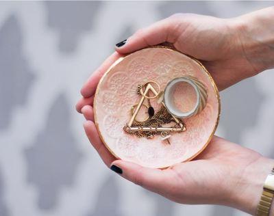 Luxurious Clay Jewelry Dish