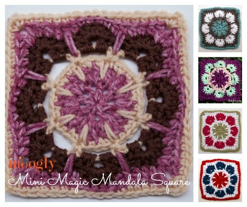 Mini Magic Mandala Crochet Granny Square