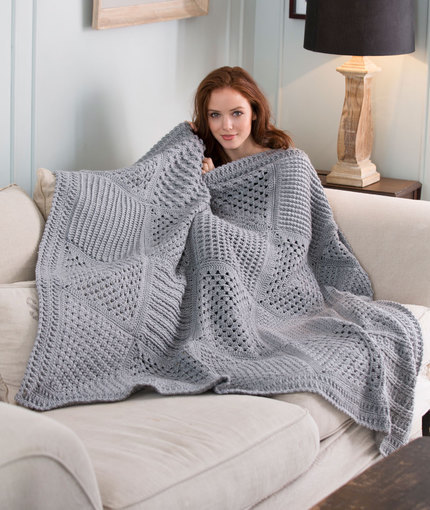 50 Shades of Gray Crochet Throw