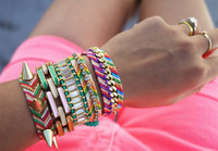 DIY Embellished Friendship Bracelets