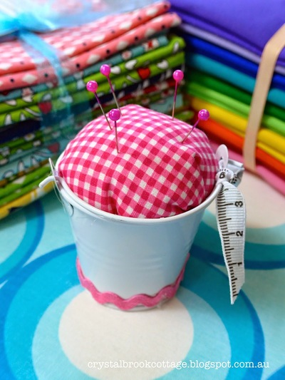 Bucket of Pins Cushion