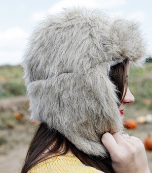 Faux Fur Floppy Ears Hat