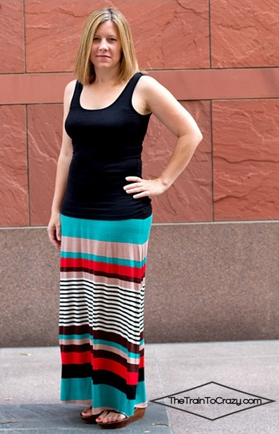 Easiest DIY Maxi Skirt
