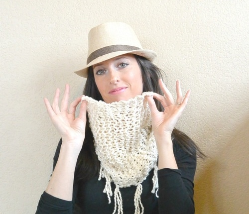 Easiest Ever Spring Scarf Knitting Pattern