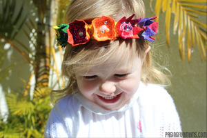 Adorable Egg Carton Flower Headbands