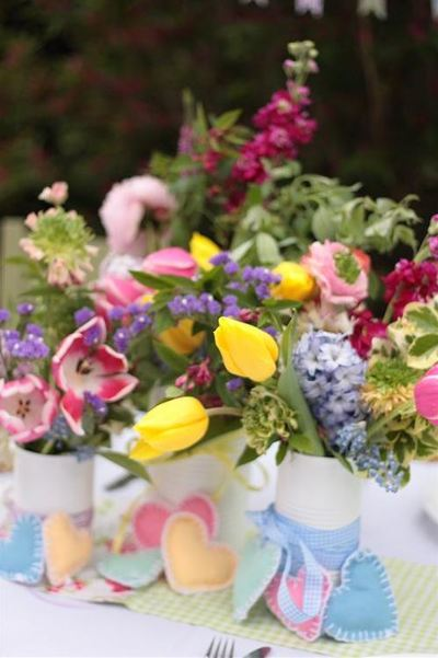 Color Burst Floral Centerpieces