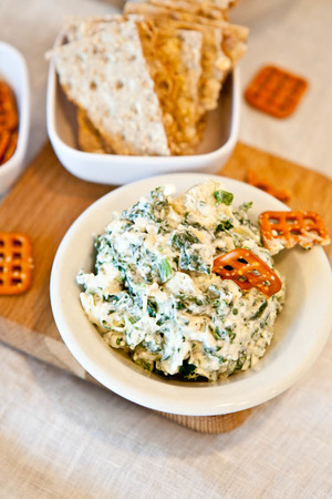 No-Bake Spinach and Artichoke Dip