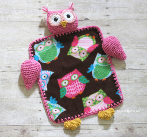 Owl Lovey Crochet Blanket