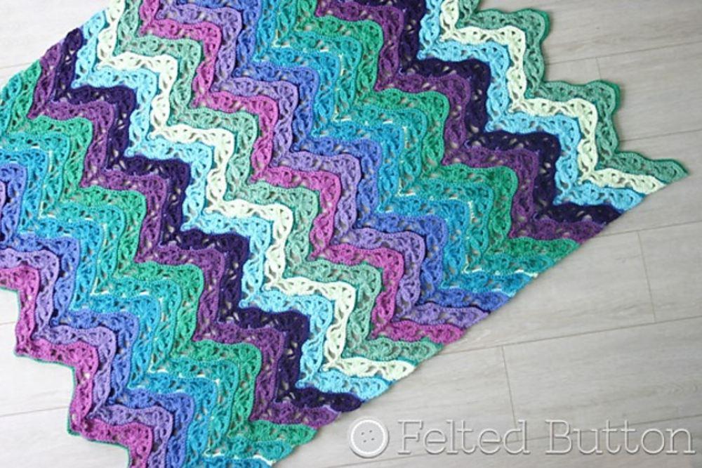 Dancing Waters Crochet Blanket