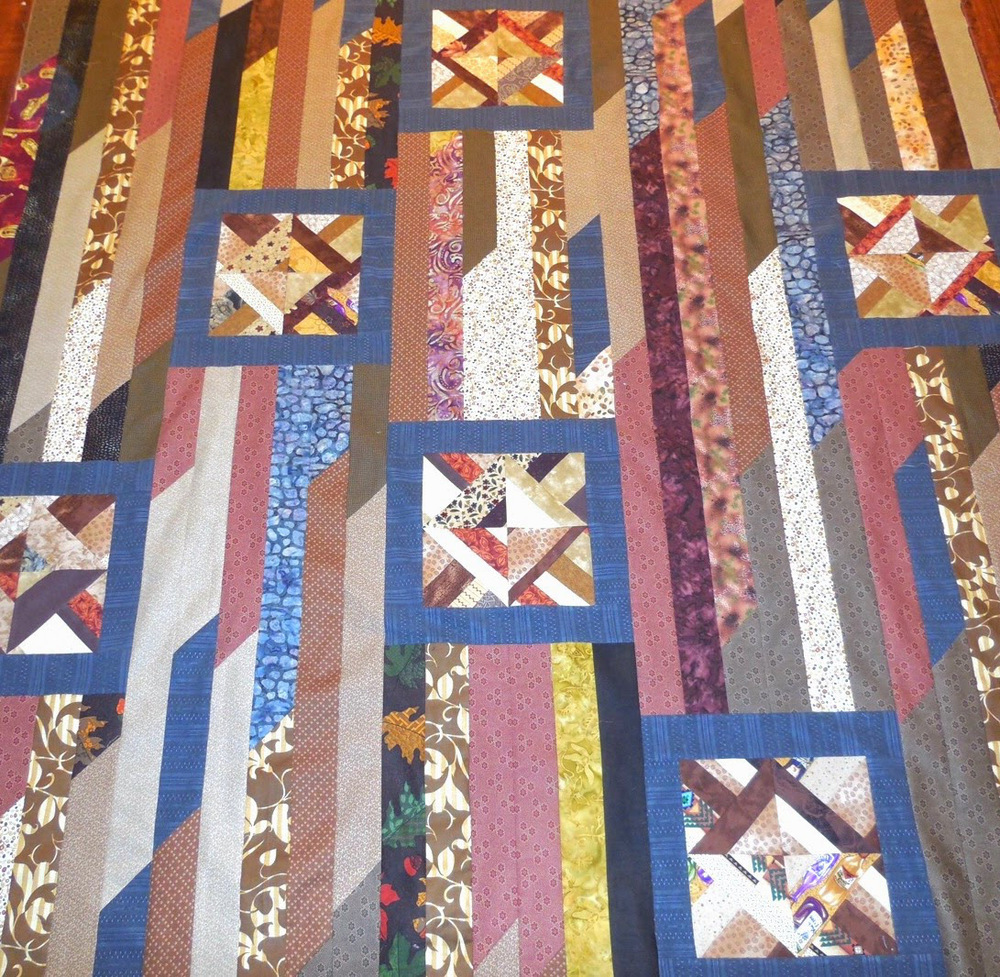 Odd Block Strip Quilt Favequilts Com