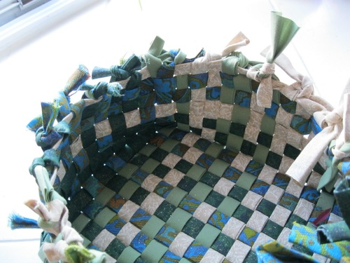 Woven Fabric Easter Basket