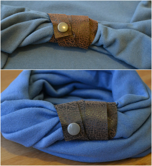 Leather Wrapped Infinity Scarf Tutorial