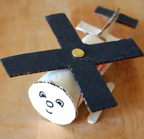 The Cutest Toilet Paper Roll Helicopter