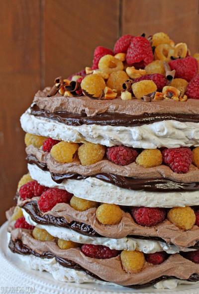 Hazelnut Meringue Wedding Cake