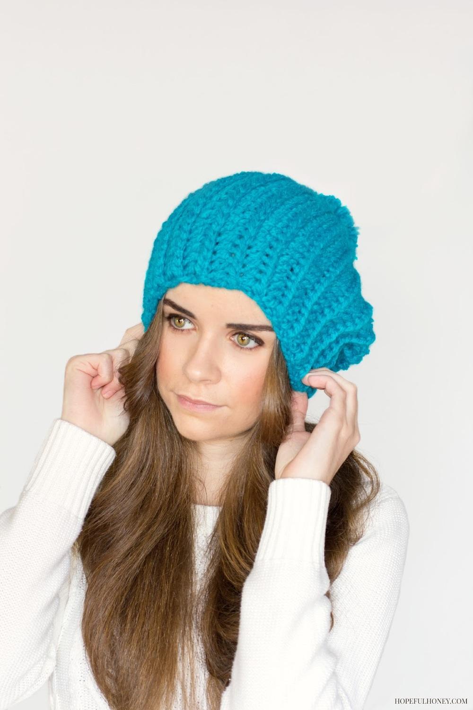 Blue Beret Crochet Beanie Pattern Favecrafts Com