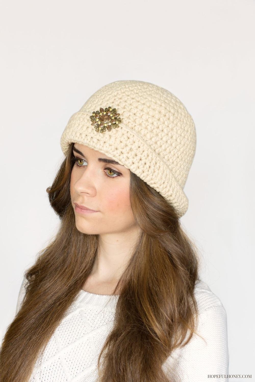 Great Gatsby Crochet Cloche Hat Pattern FaveCrafts.com