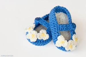 Mary Jane Baby Bootie Crochet Pattern