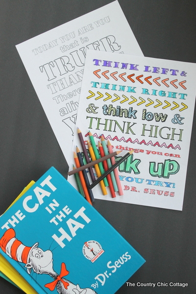 Printable Dr Seuss Coloring Pages