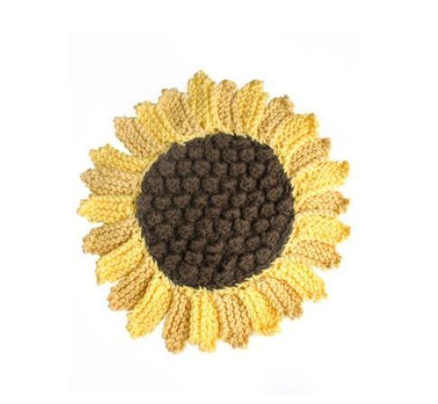 Sunflower Dishcloth Pattern Allfreeknitting Com