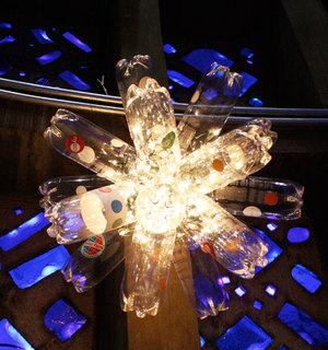 Soda bottle chandelier plastic bottle craft favecrafts soda bottle chandelier aloadofball Images