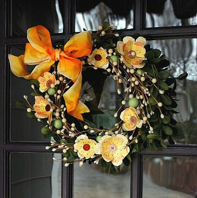 Blooming into Spring Wreath