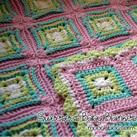 Granny Square Afghans in Pastel Colors
