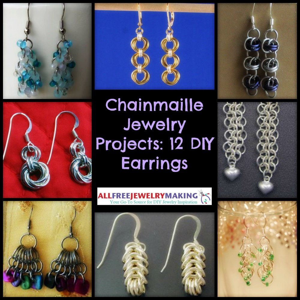Chainmaille Jewelry Projects: 12 DIY Earrings ...