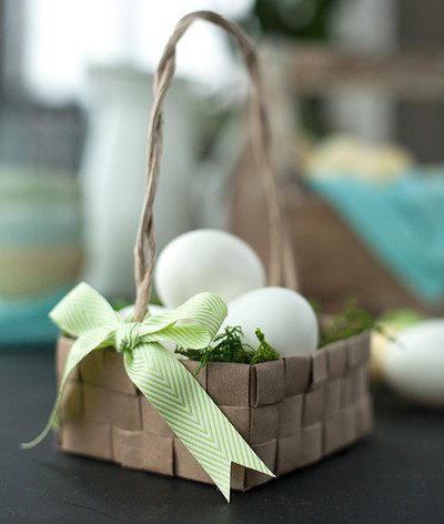 Upcycled Easter Basket