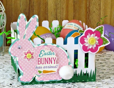 Picket Fence Homemade Easter Basket