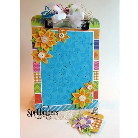 Spring Flowers Clipboard DIY Paper Craft