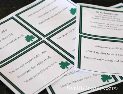 Printable St Patricks Day Scavenger Hunt