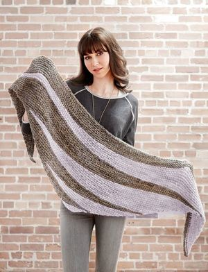 Lavender Fields Easy Knit Shawl Pattern 2