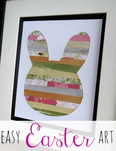 Scrappy Easter Bunny Art Project