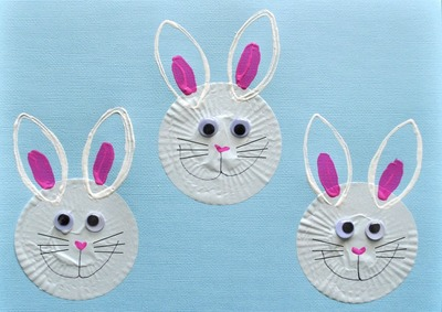 Easter Bunny Cupcake Liner Crafts