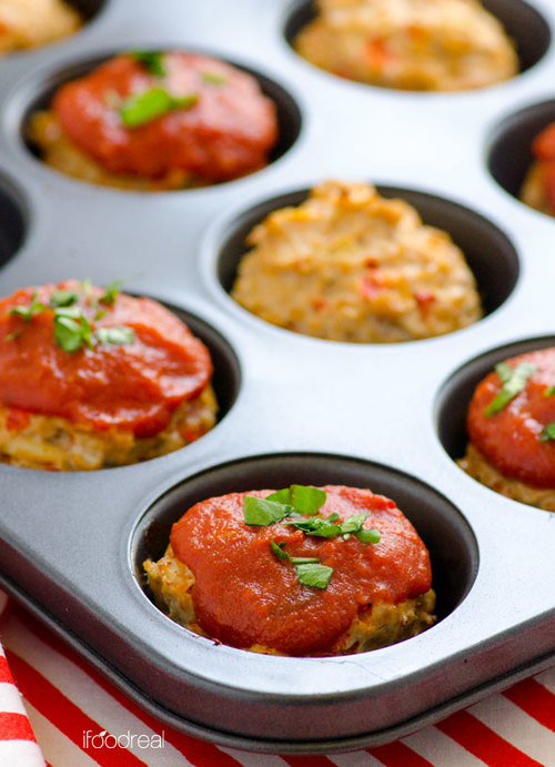 Shareable Turkey Meatloaf Muffins