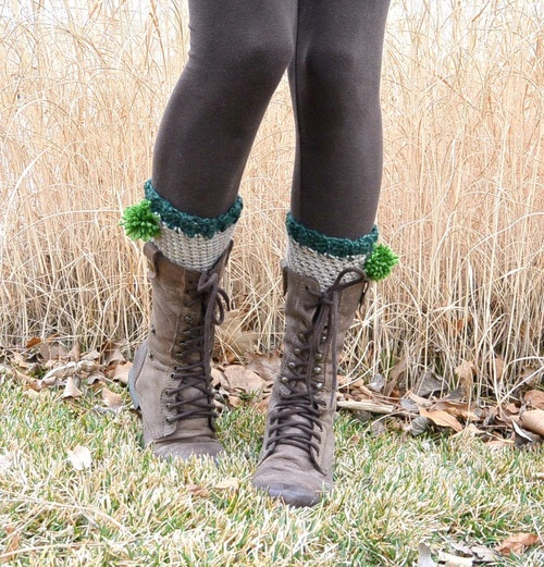 Easy Leprechaun Crochet Boot Cuffs