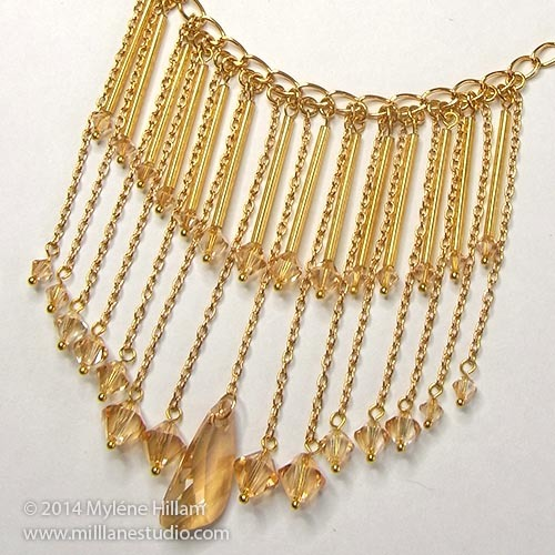 Golden Shadows DIY Necklace