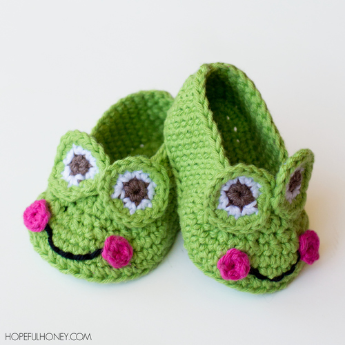 Granddaughters Favorite Frog Baby Booties