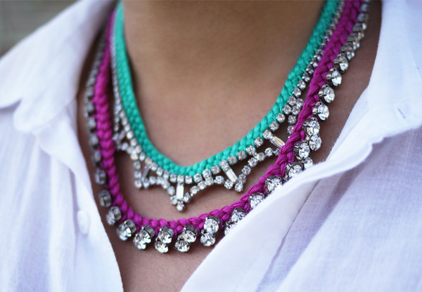 Dazzling DIY Braided Rhinestone Necklace