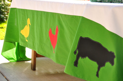 Modern Farm Tablecloth