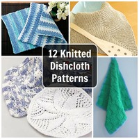 12 Knitted Dishcloth Patterns