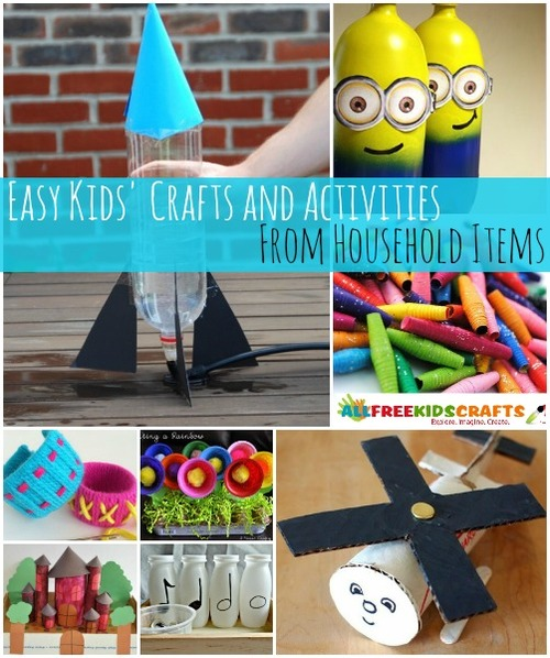 A Great Way To Save Money On Crafts Is Find Things That Are Already Lying Around Your House For Little Ones Use 35 Kids Activities And Easy